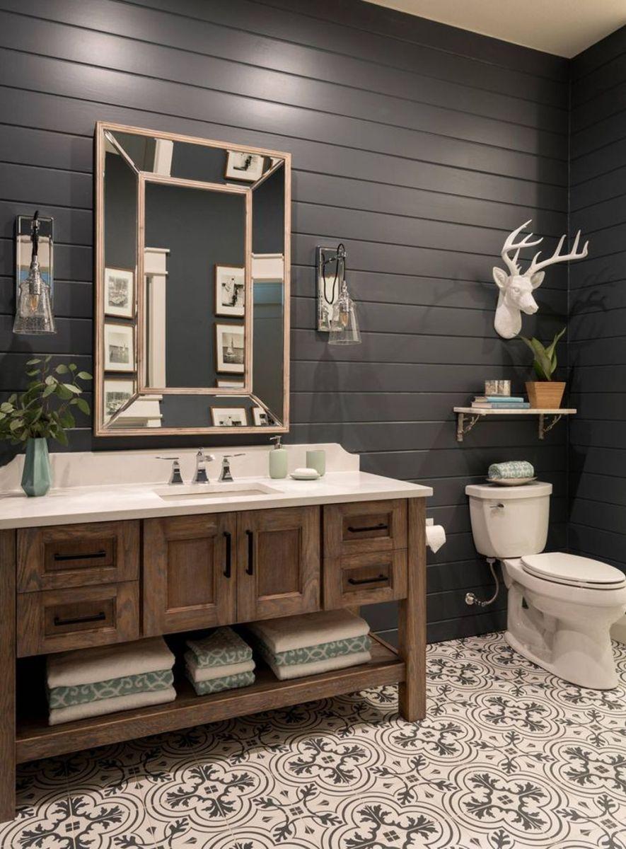Admirable Rustic Modern Bathroom Design And Decor Ideas 27