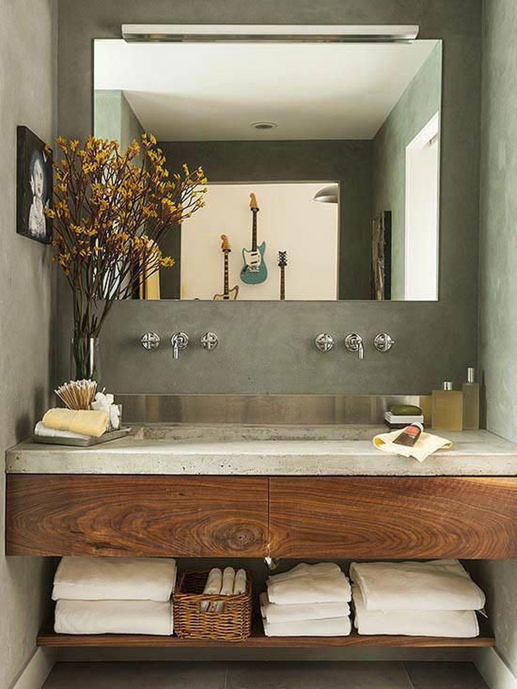 Admirable Rustic Modern Bathroom Design And Decor Ideas 29