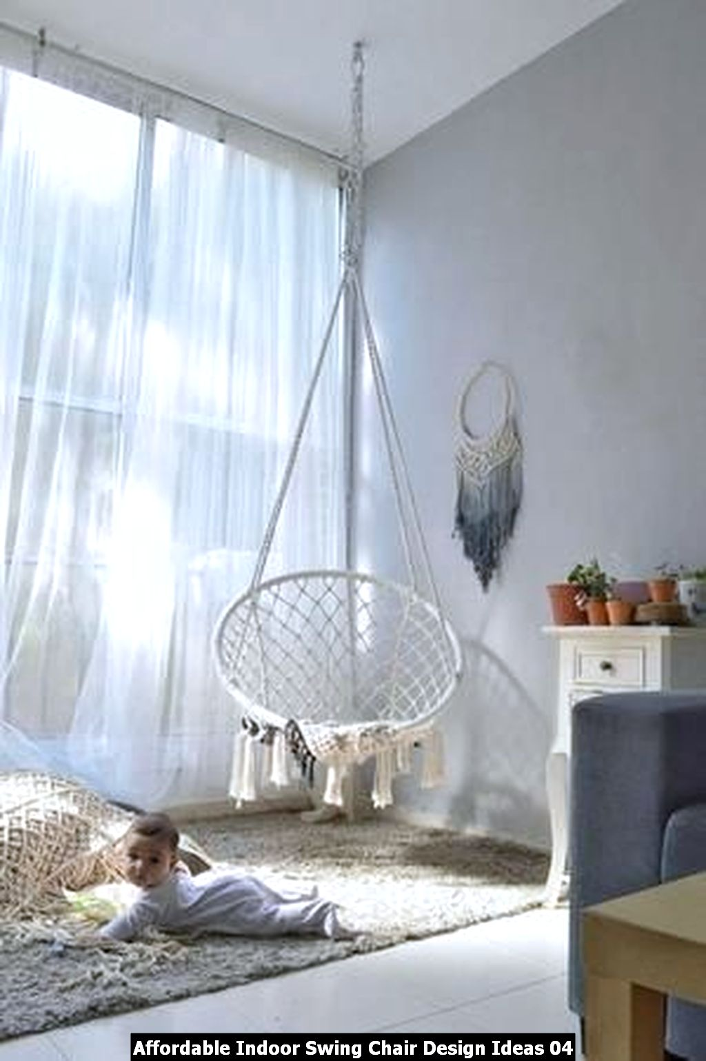 Affordable Indoor Swing Chair Design Ideas 04