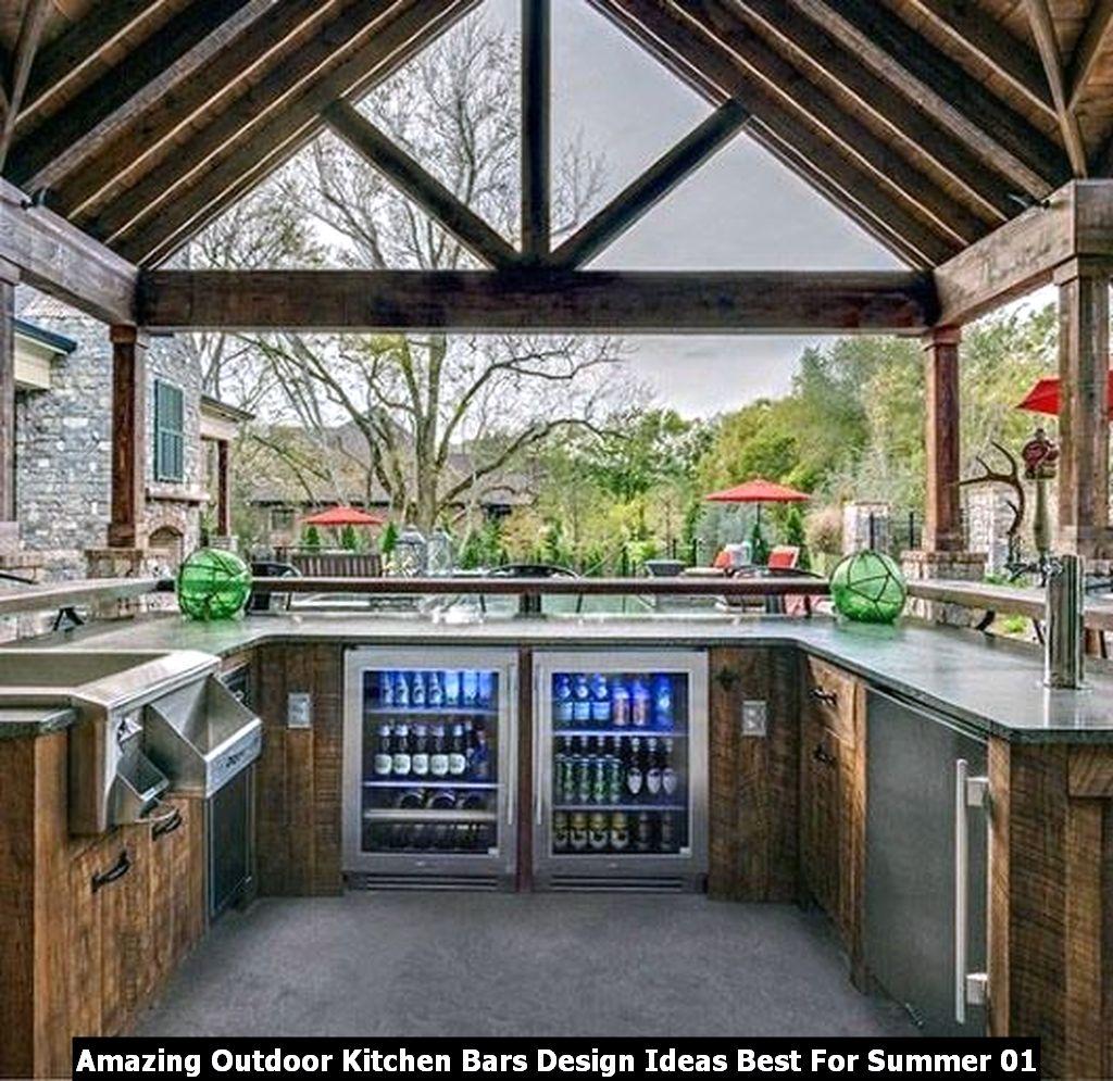 Amazing Outdoor Kitchen Bars Design Ideas Best For Summer 01