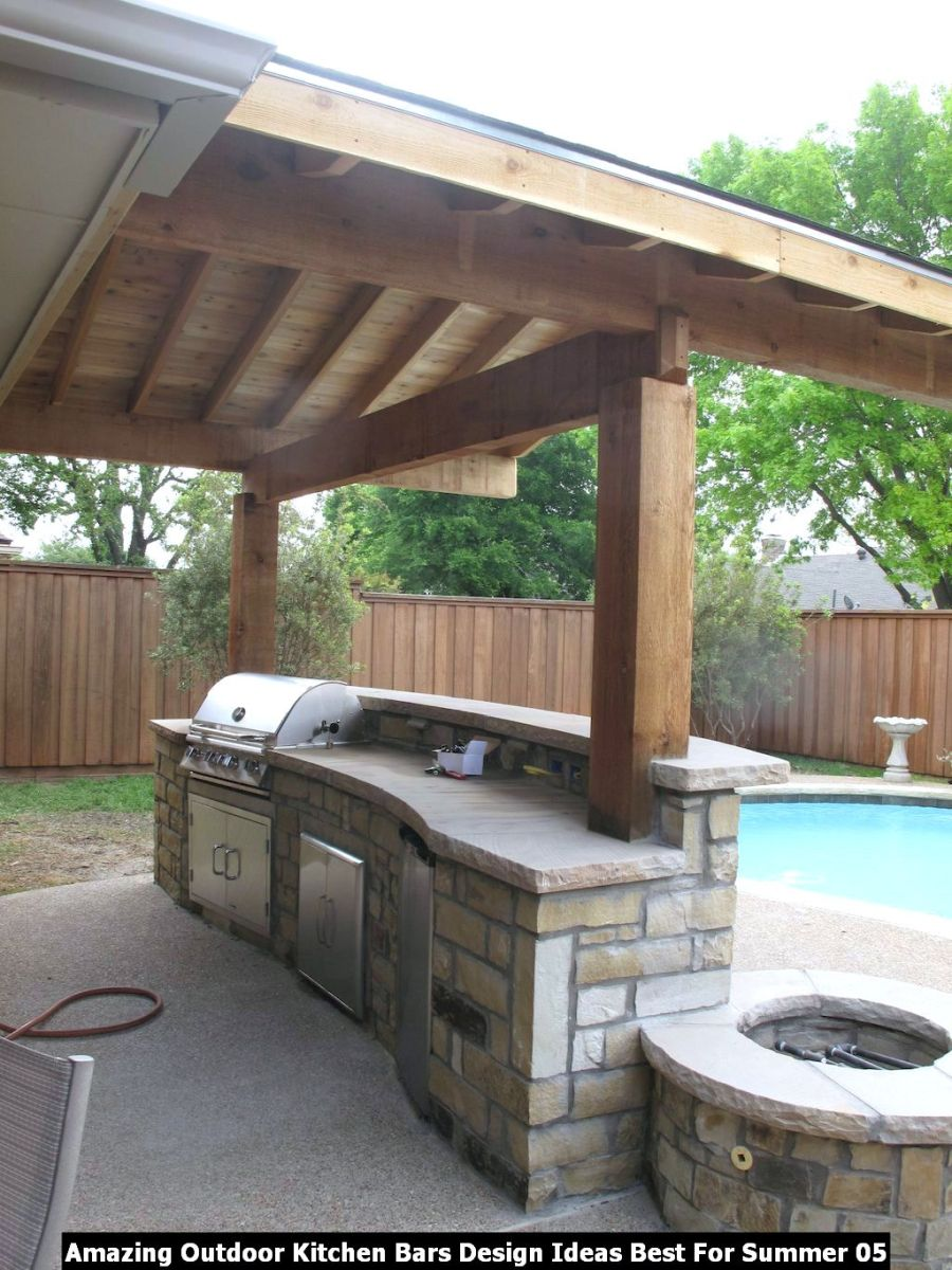 Amazing Outdoor Kitchen Bars Design Ideas Best For Summer 05