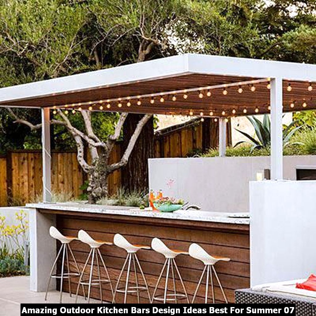 Amazing Outdoor Kitchen Bars Design Ideas Best For Summer 07