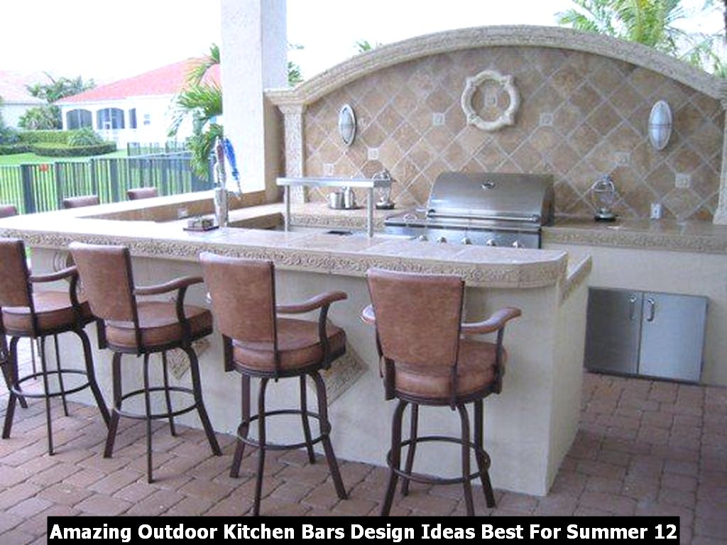 Amazing Outdoor Kitchen Bars Design Ideas Best For Summer 12