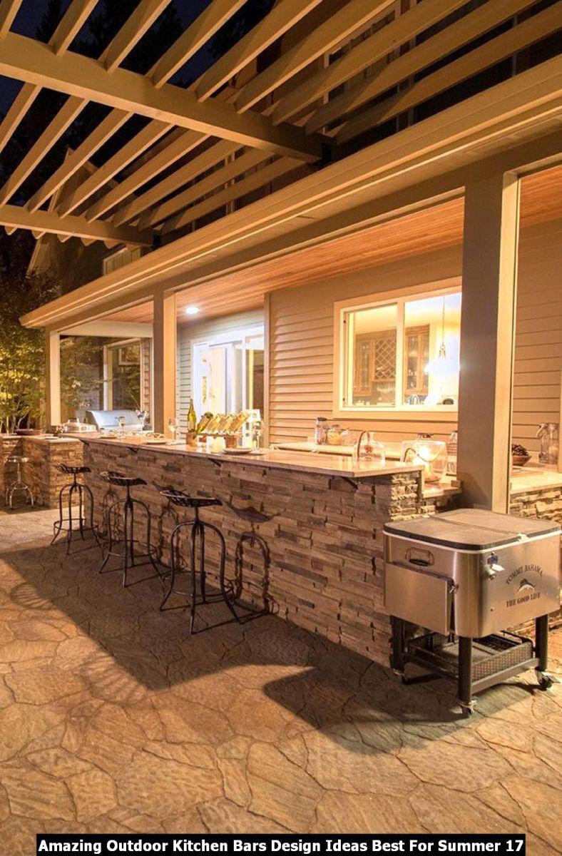 Amazing Outdoor Kitchen Bars Design Ideas Best For Summer 17