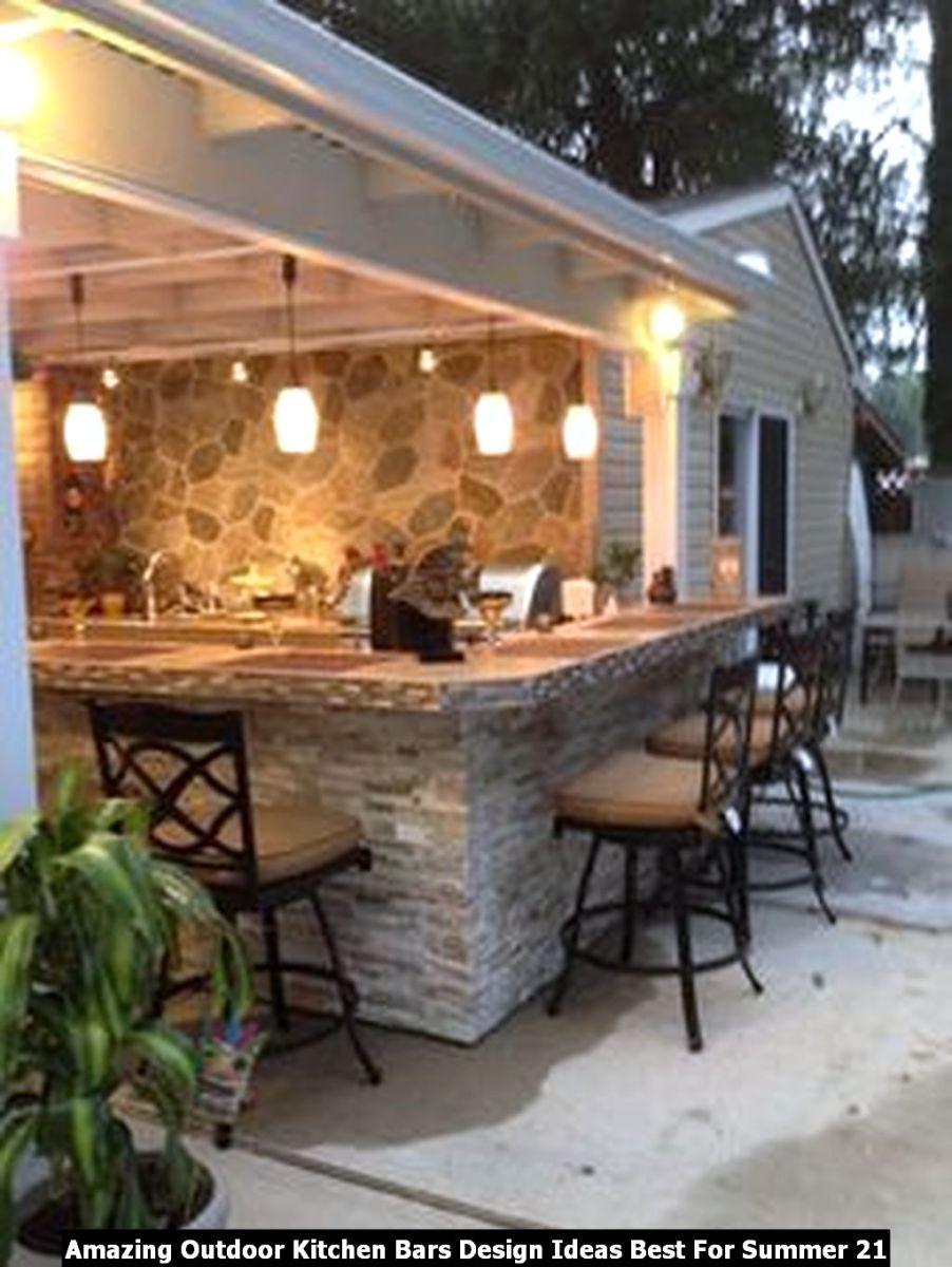 Amazing Outdoor Kitchen Bars Design Ideas Best For Summer 21