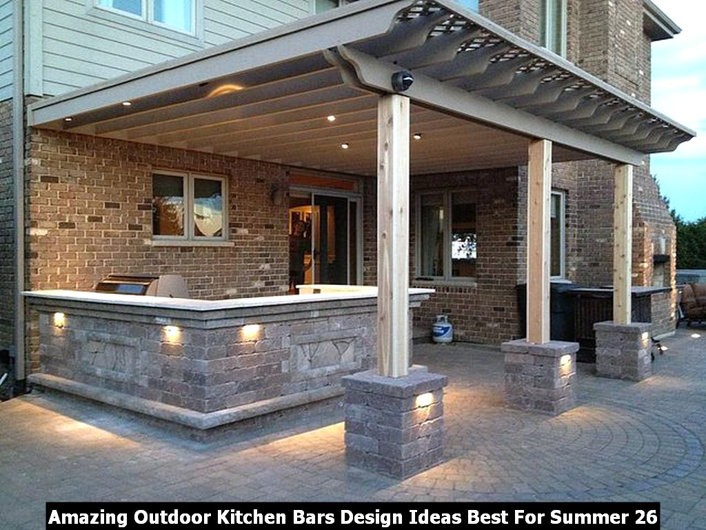 Amazing Outdoor Kitchen Bars Design Ideas Best For Summer 26