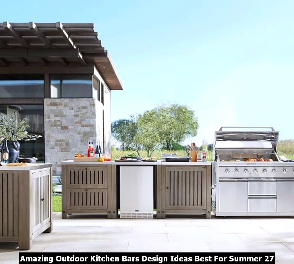 Amazing Outdoor Kitchen Bars Design Ideas Best For Summer 27