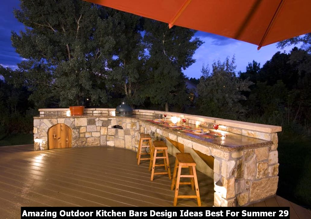 Amazing Outdoor Kitchen Bars Design Ideas Best For Summer 29
