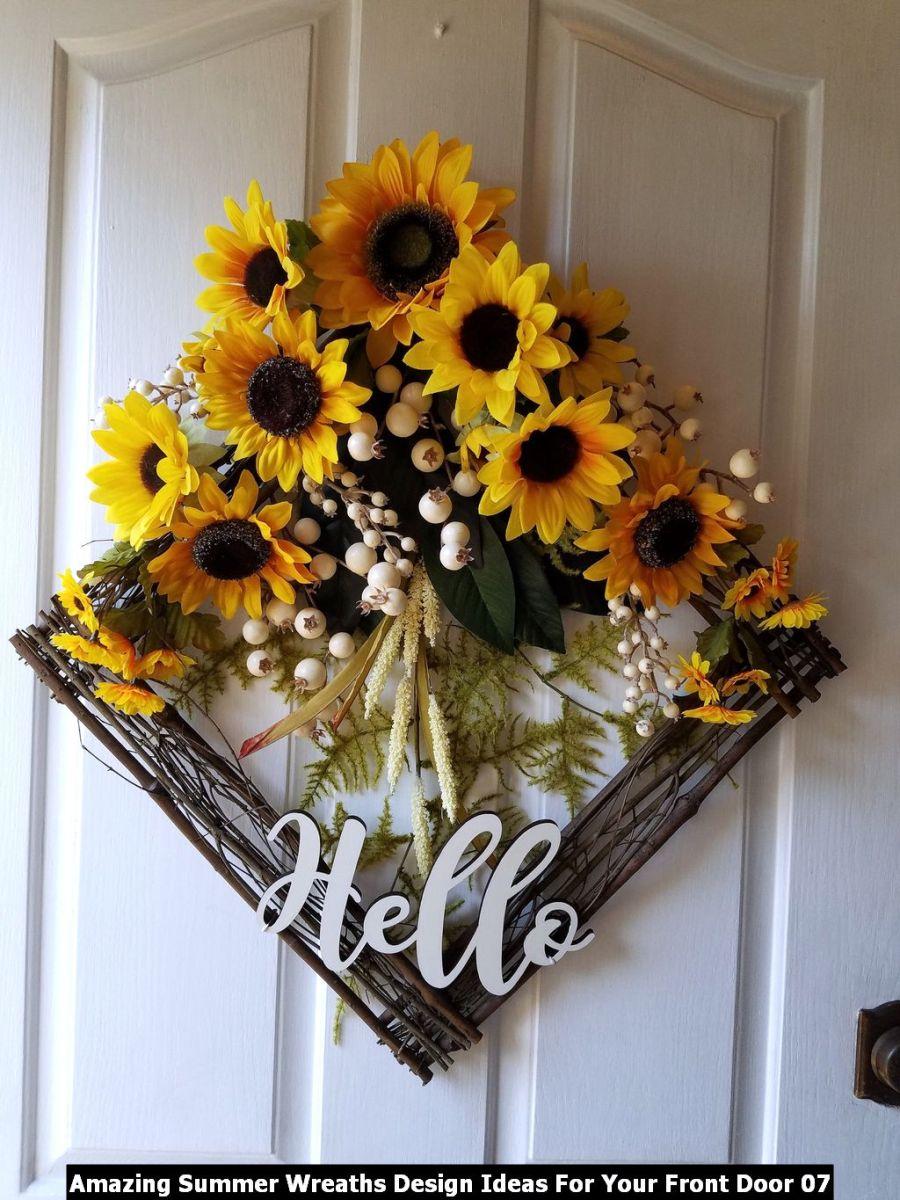 Amazing Summer Wreaths Design Ideas For Your Front Door 07