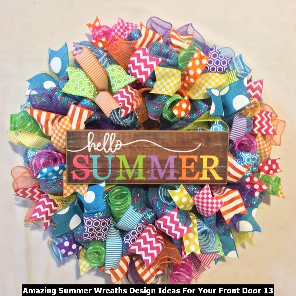 Amazing Summer Wreaths Design Ideas For Your Front Door 13