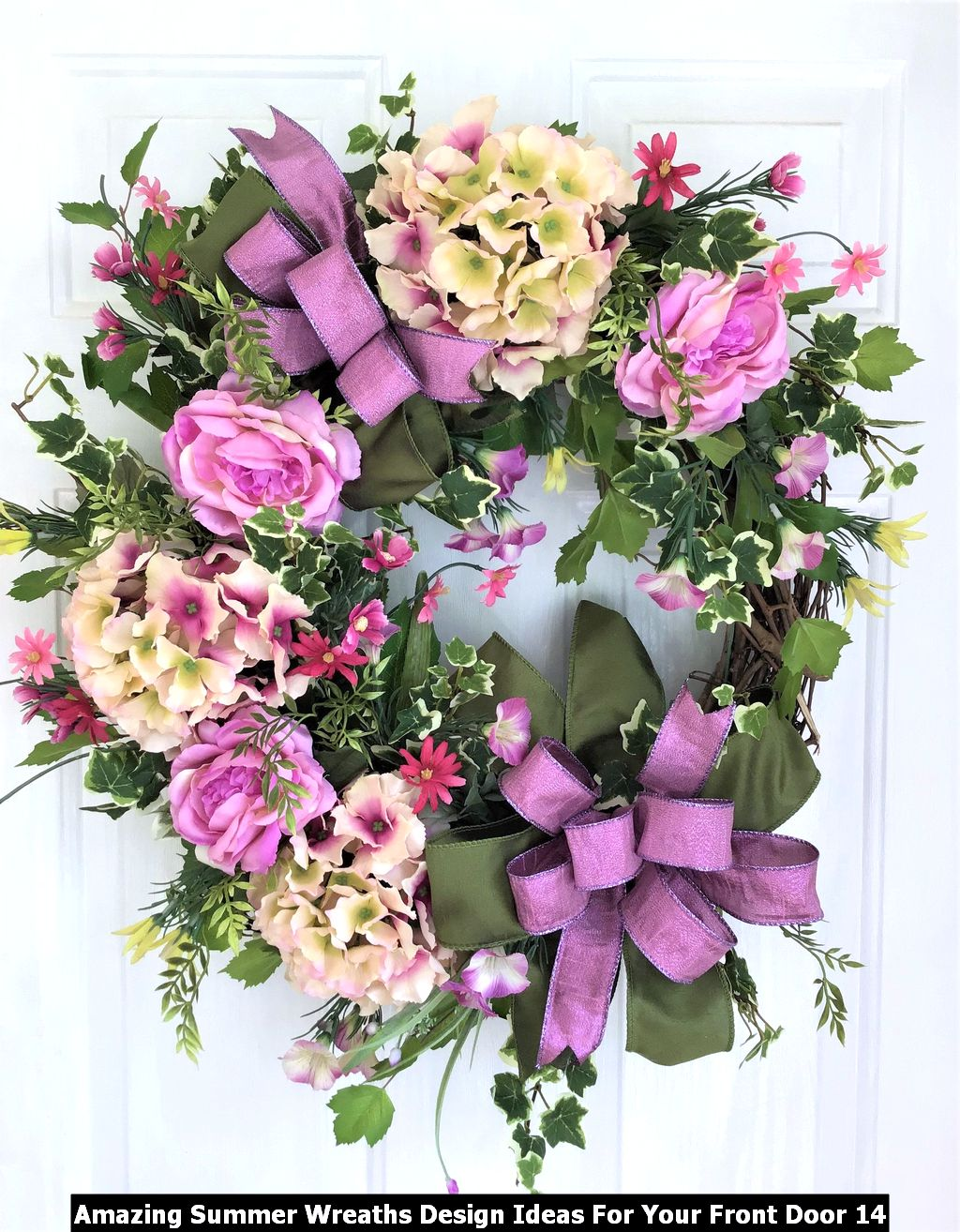 Amazing Summer Wreaths Design Ideas For Your Front Door 14