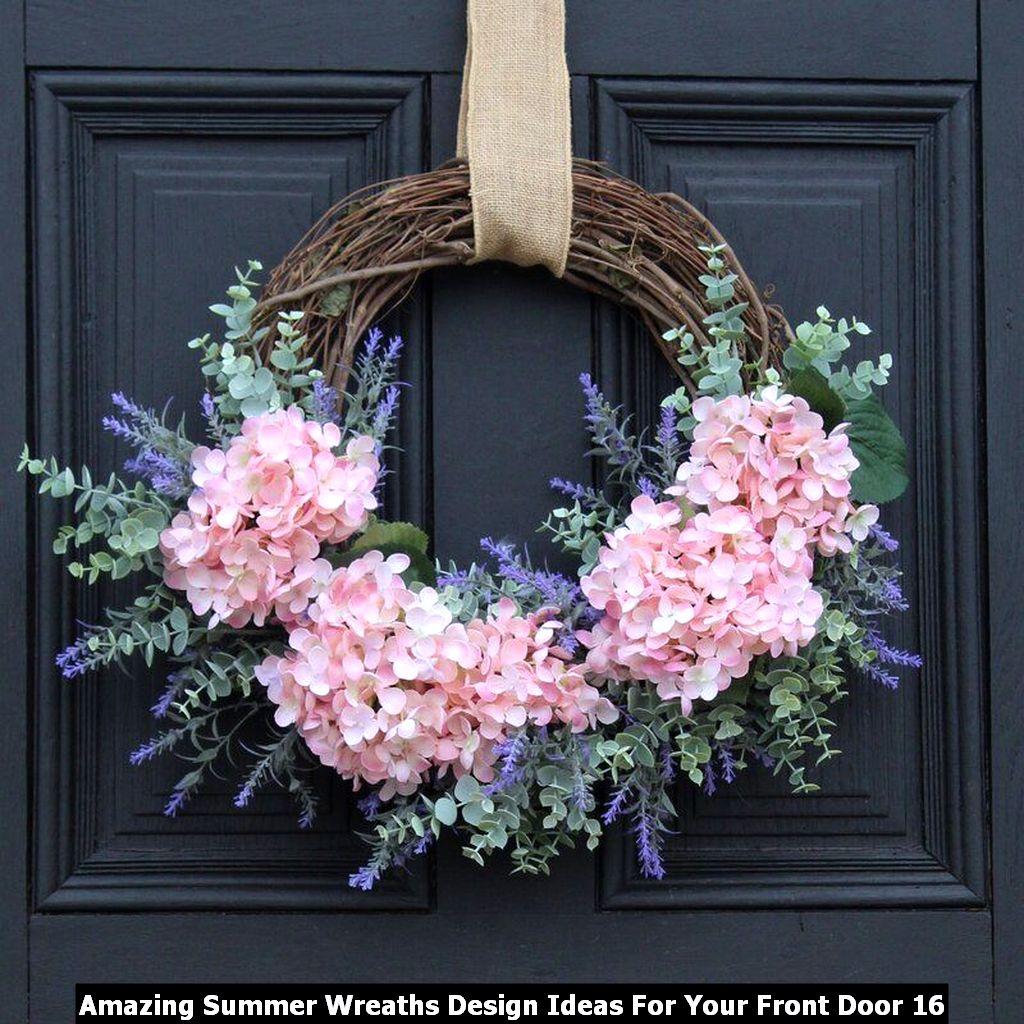 Amazing Summer Wreaths Design Ideas For Your Front Door 16
