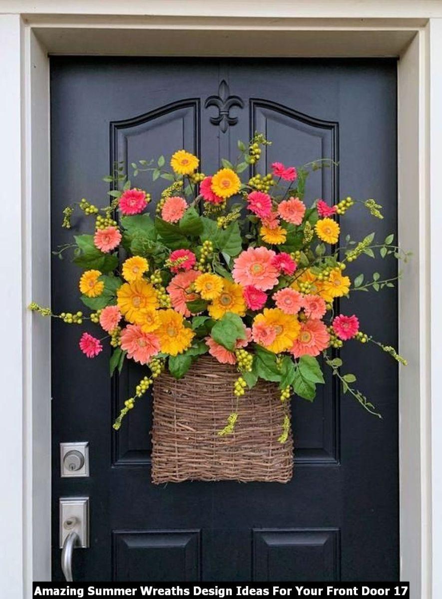 Amazing Summer Wreaths Design Ideas For Your Front Door 17