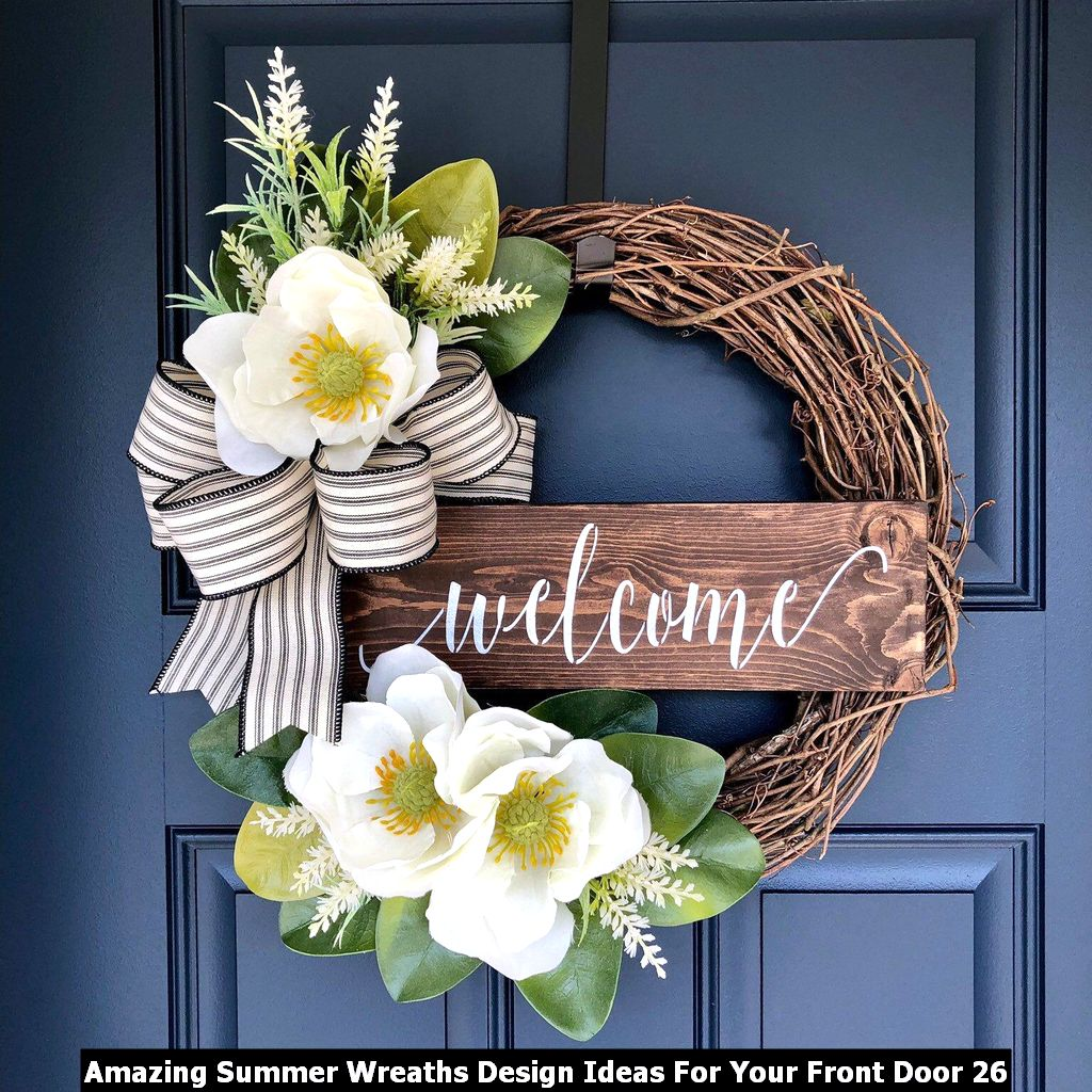 Amazing Summer Wreaths Design Ideas For Your Front Door 26