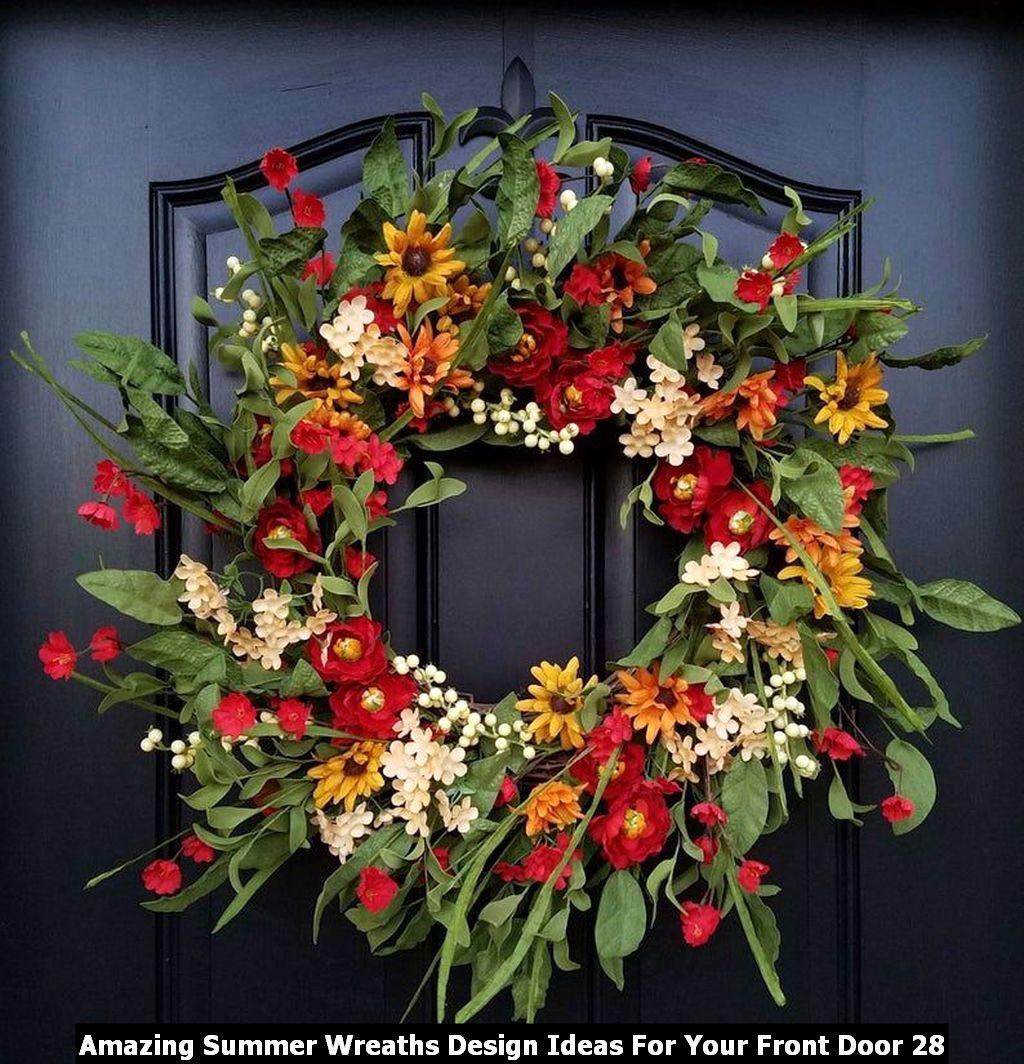 Amazing Summer Wreaths Design Ideas For Your Front Door 28