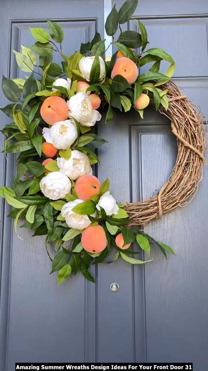 Amazing Summer Wreaths Design Ideas For Your Front Door 31