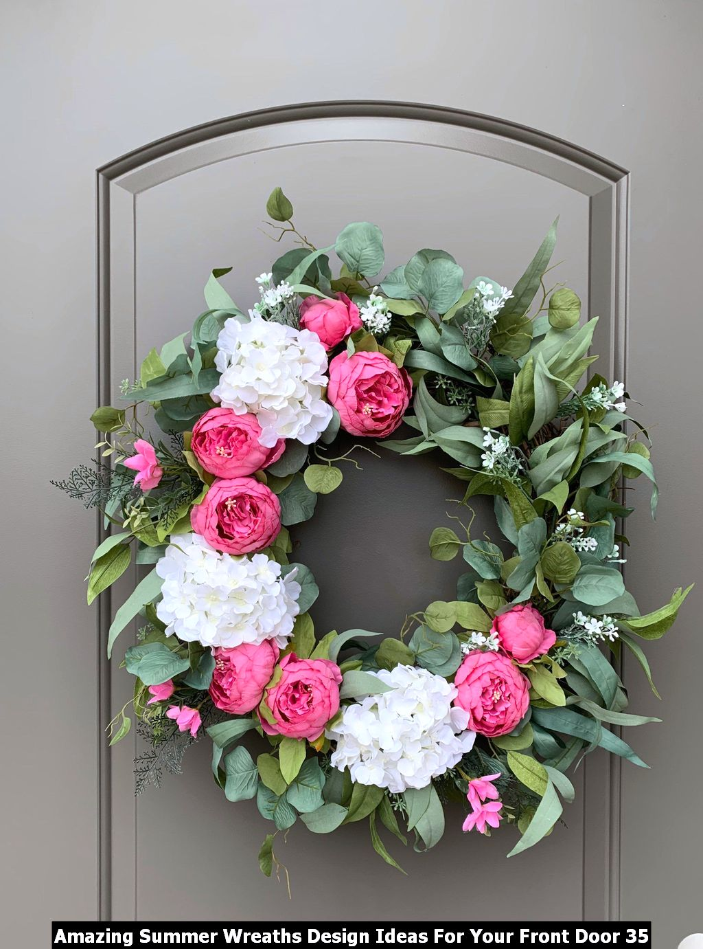 Amazing Summer Wreaths Design Ideas For Your Front Door 35
