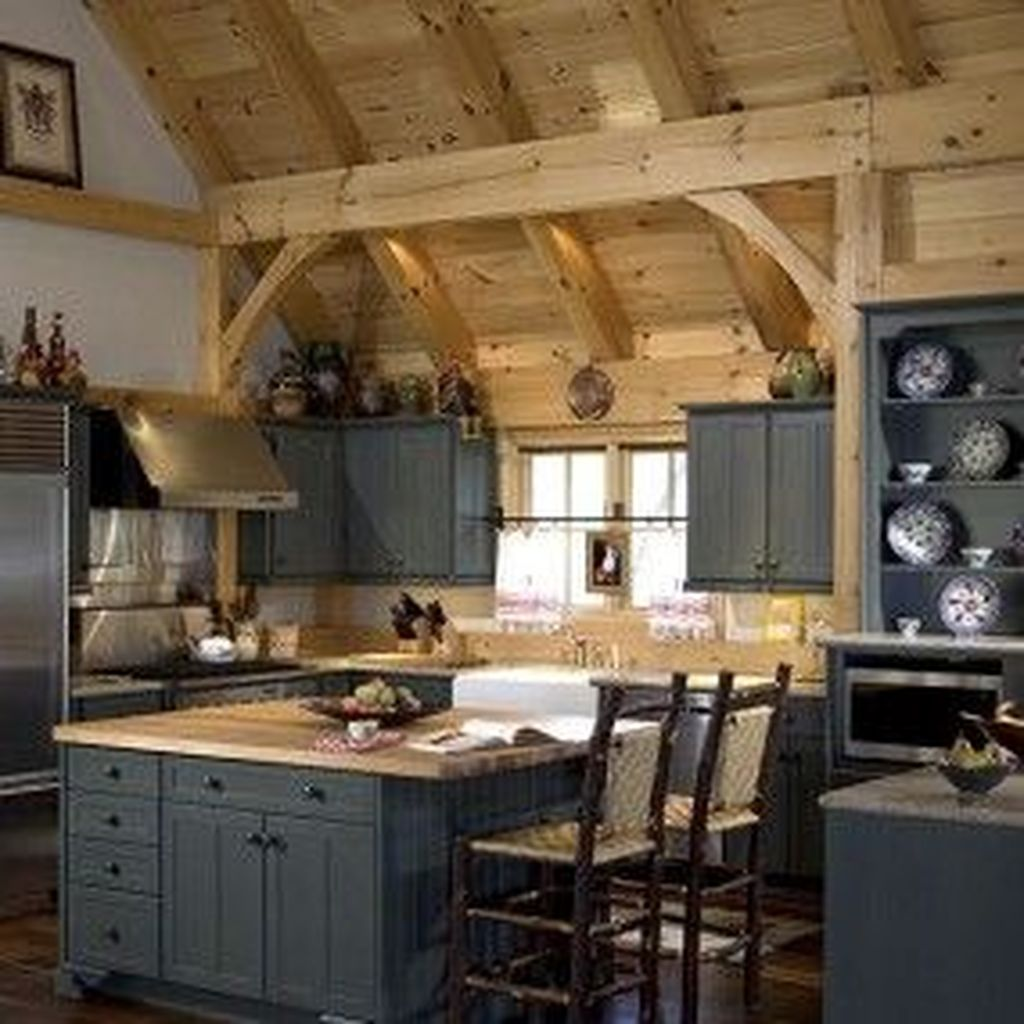 Awesome Rustic Kitchen Design Ideas 16