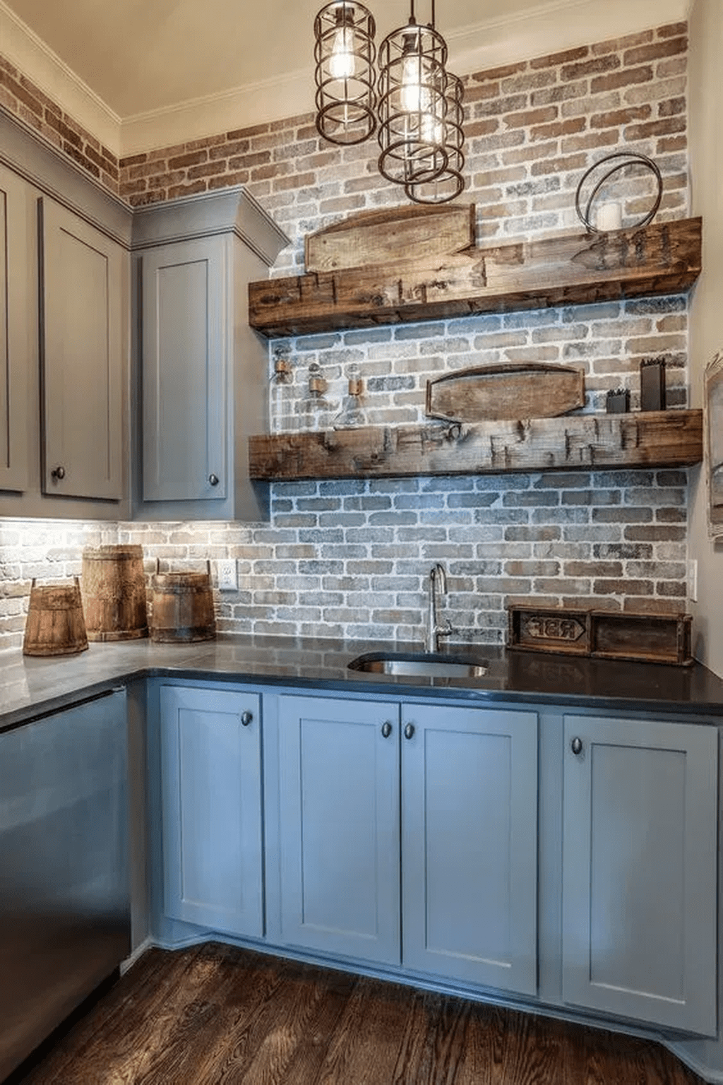Awesome Rustic Kitchen Design Ideas 37