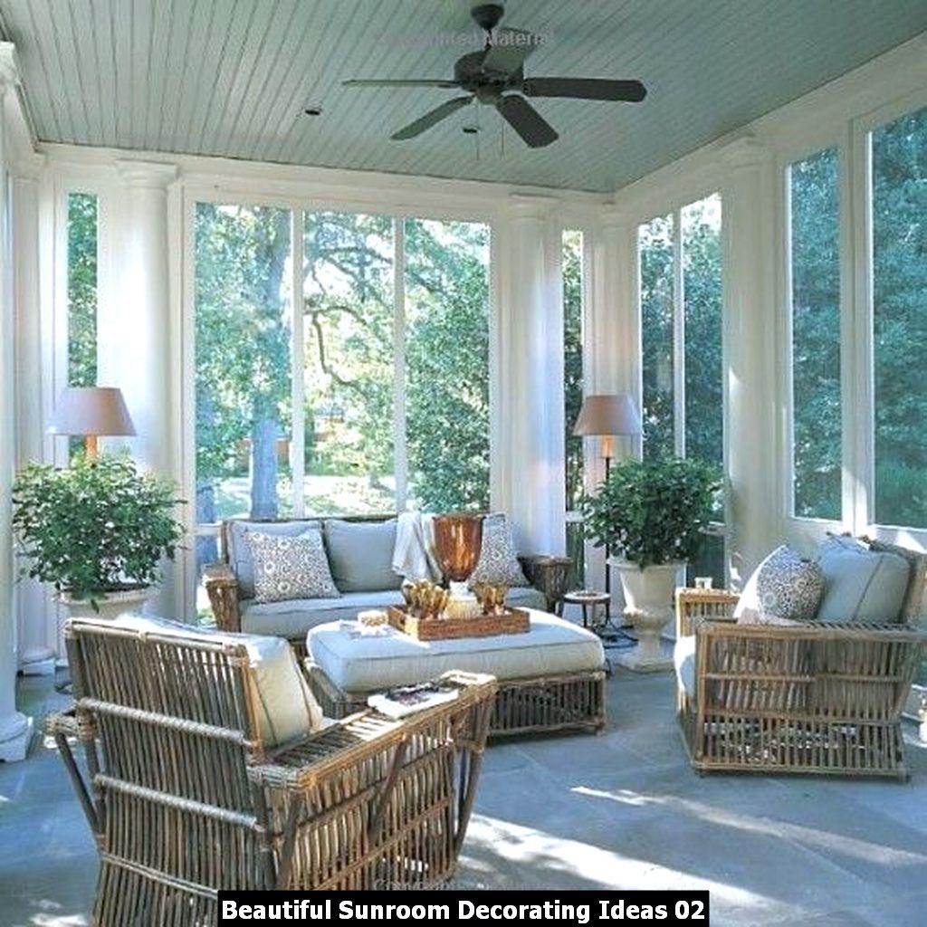 Beautiful Sunroom Decorating Ideas 02