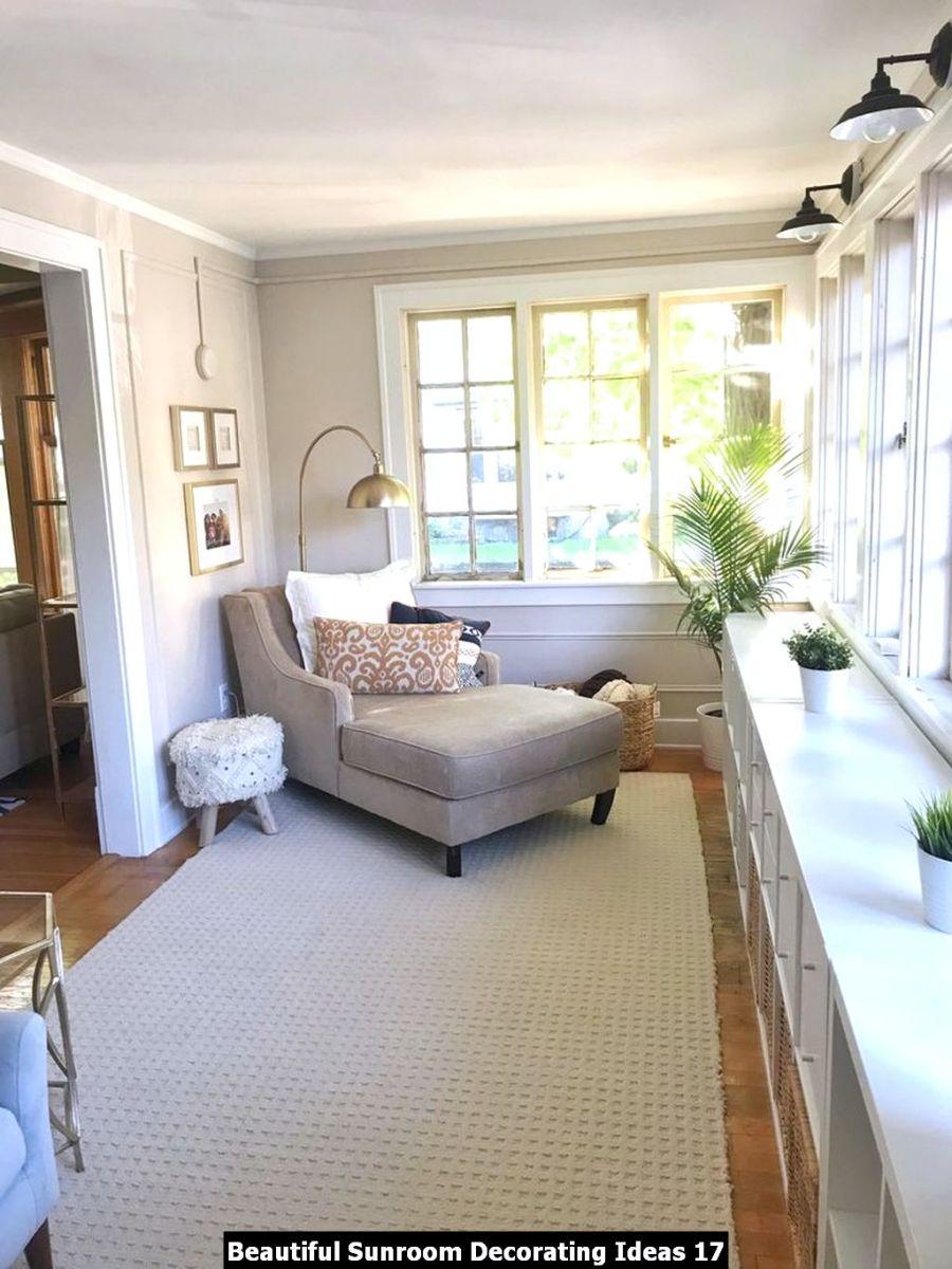 Beautiful Sunroom Decorating Ideas 17