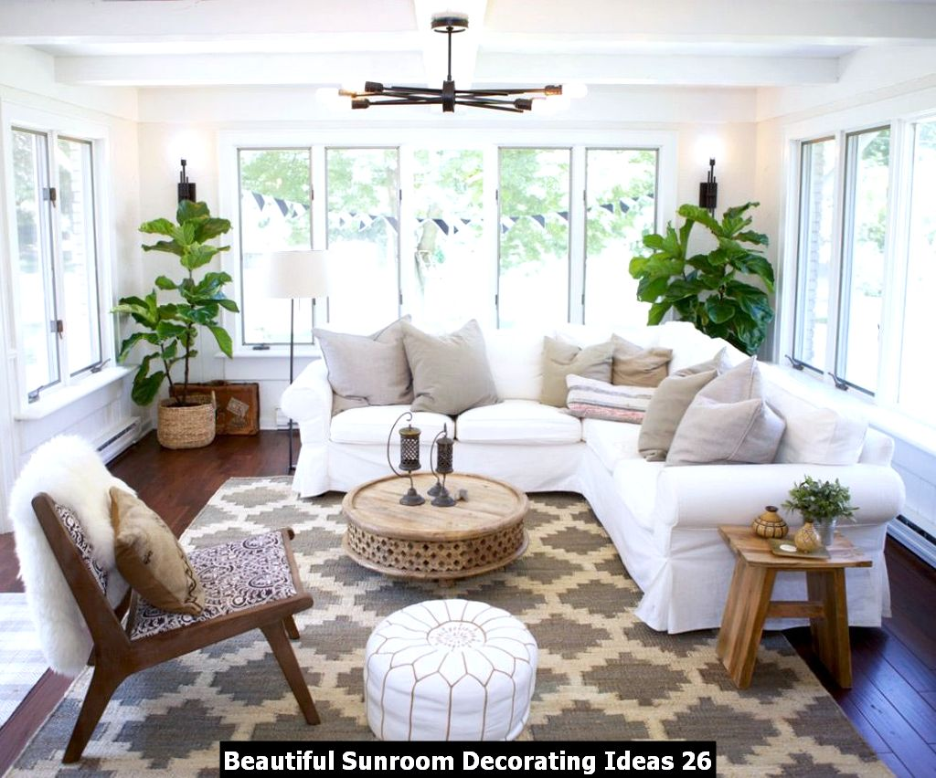 Beautiful Sunroom Decorating Ideas 26