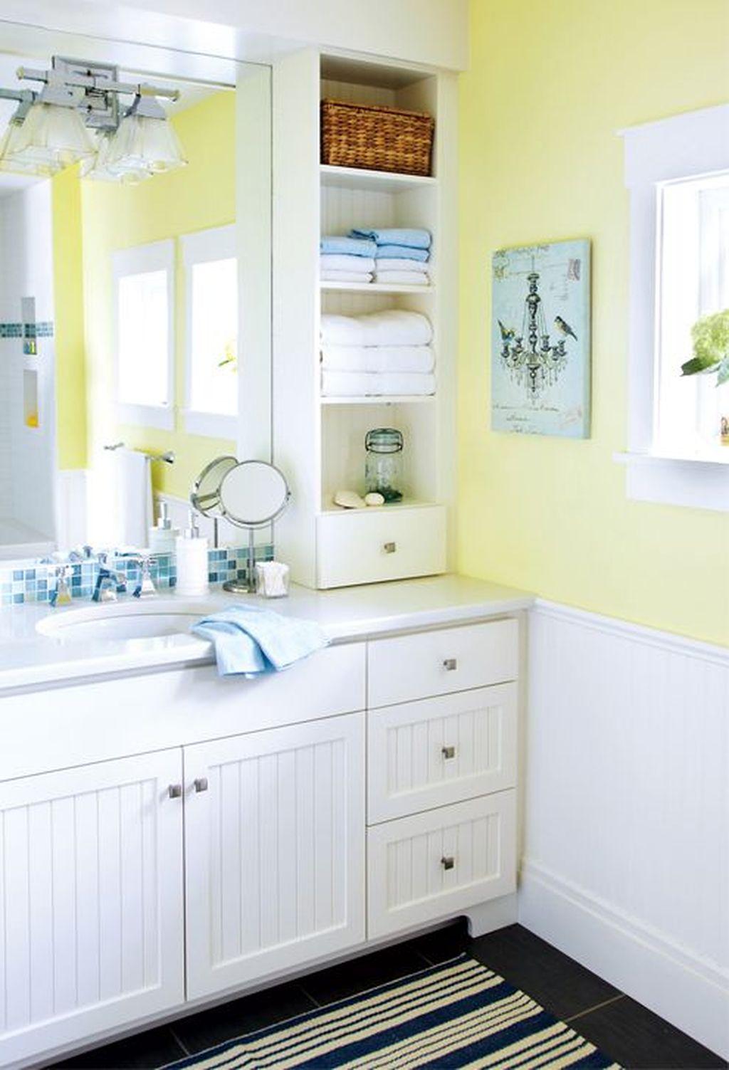 Creative Sunny Yellow Bathroom Decor For Summer 26