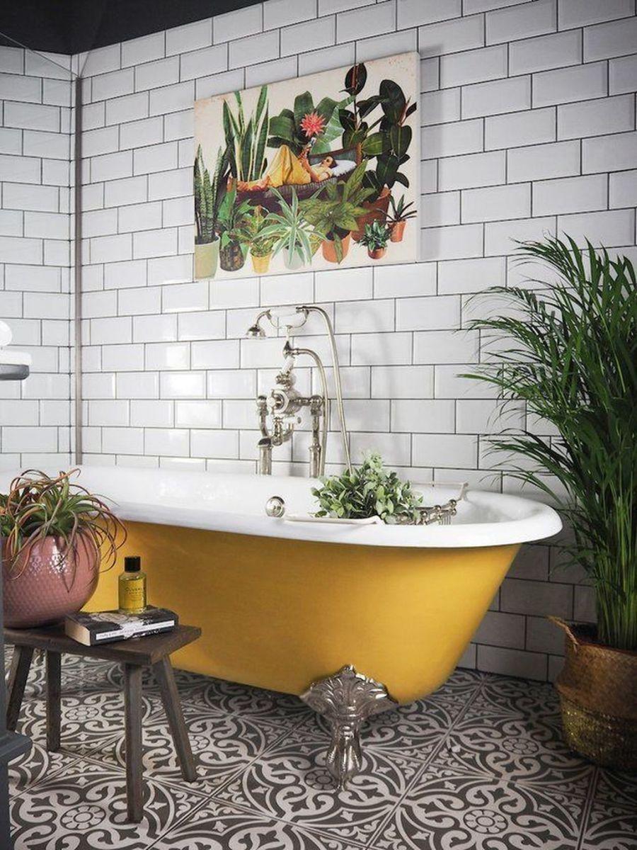 Creative Sunny Yellow Bathroom Decor For Summer 31