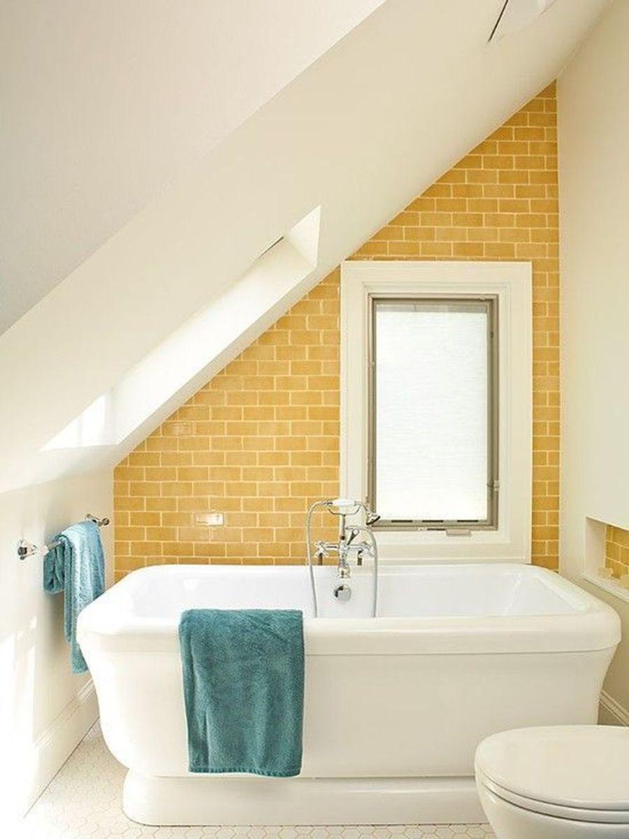 Creative Sunny Yellow Bathroom Decor For Summer 42