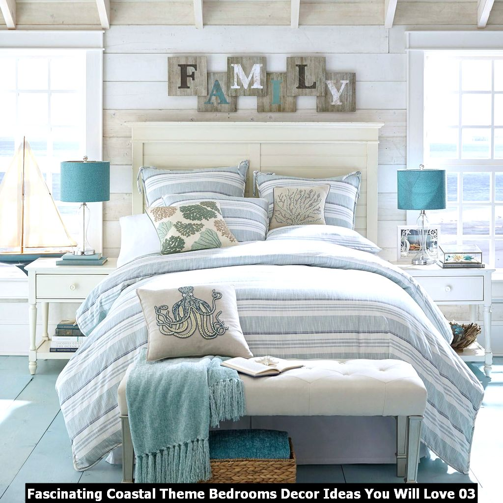 Fascinating Coastal Theme Bedrooms Decor Ideas You Will Love 03