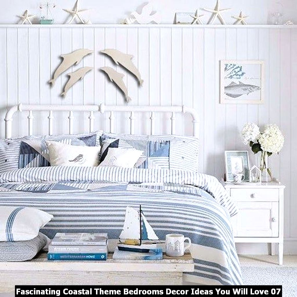 Fascinating Coastal Theme Bedrooms Decor Ideas You Will Love 07