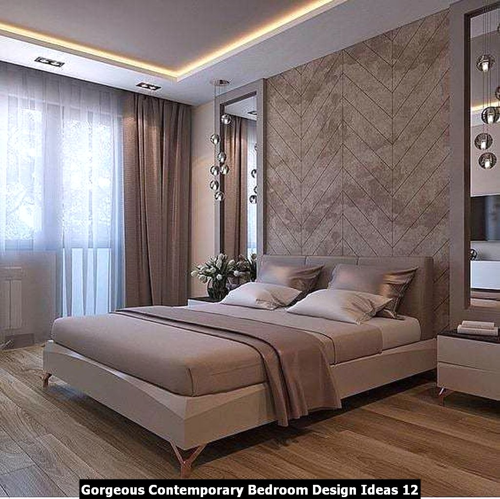 Gorgeous Contemporary Bedroom Design Ideas 12