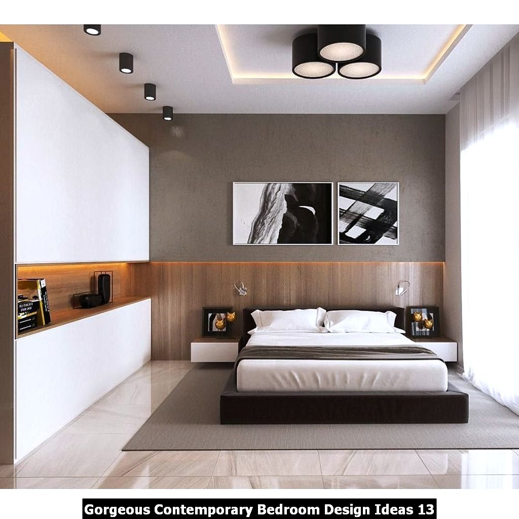 Gorgeous Contemporary Bedroom Design Ideas 13