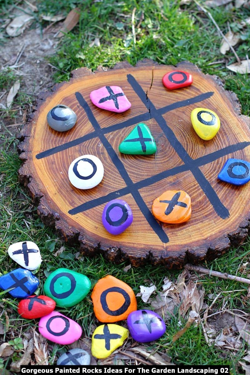 Gorgeous Painted Rocks Ideas For The Garden Landscaping 02