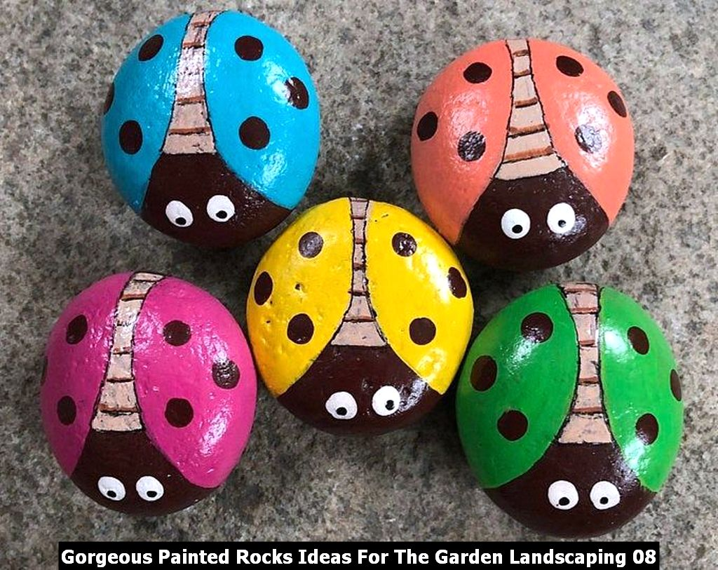 Gorgeous Painted Rocks Ideas For The Garden Landscaping 08