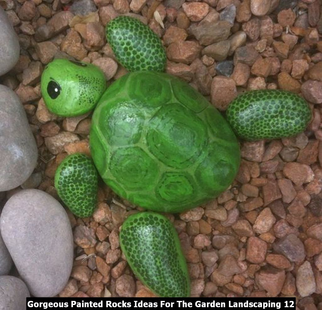 Gorgeous Painted Rocks Ideas For The Garden Landscaping 12