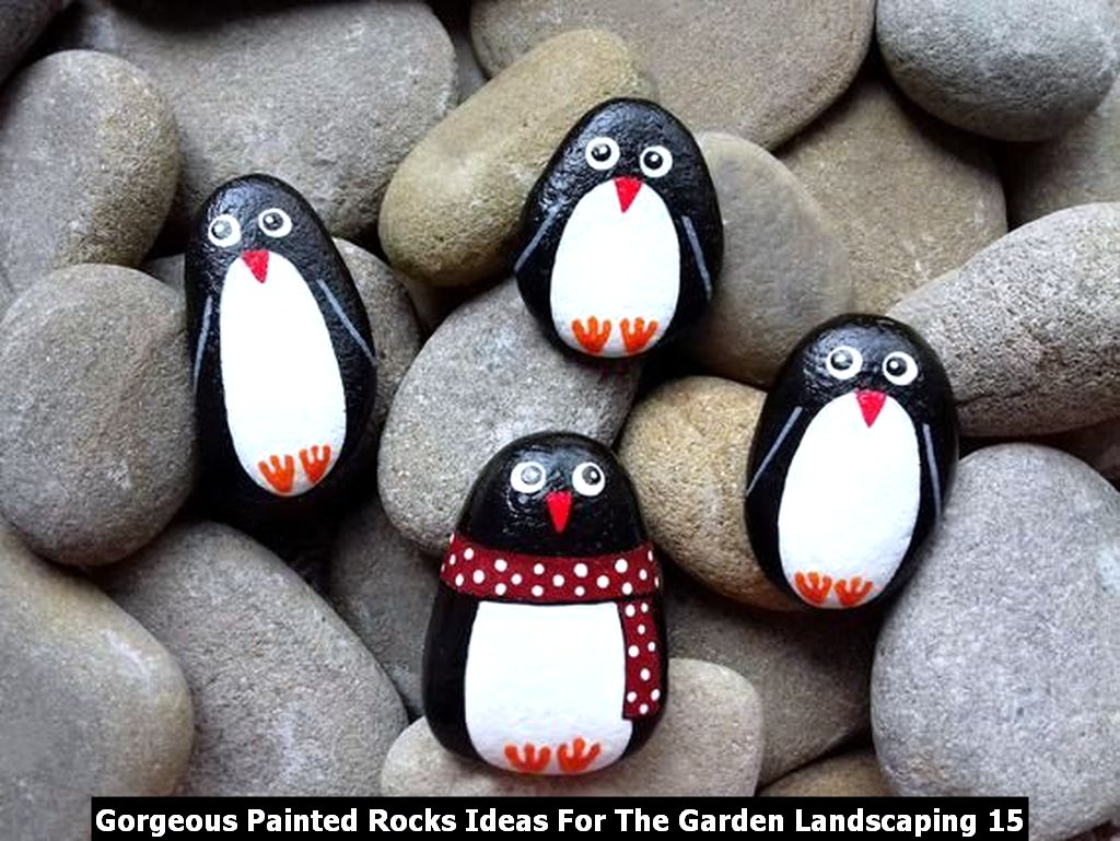 Gorgeous Painted Rocks Ideas For The Garden Landscaping 15