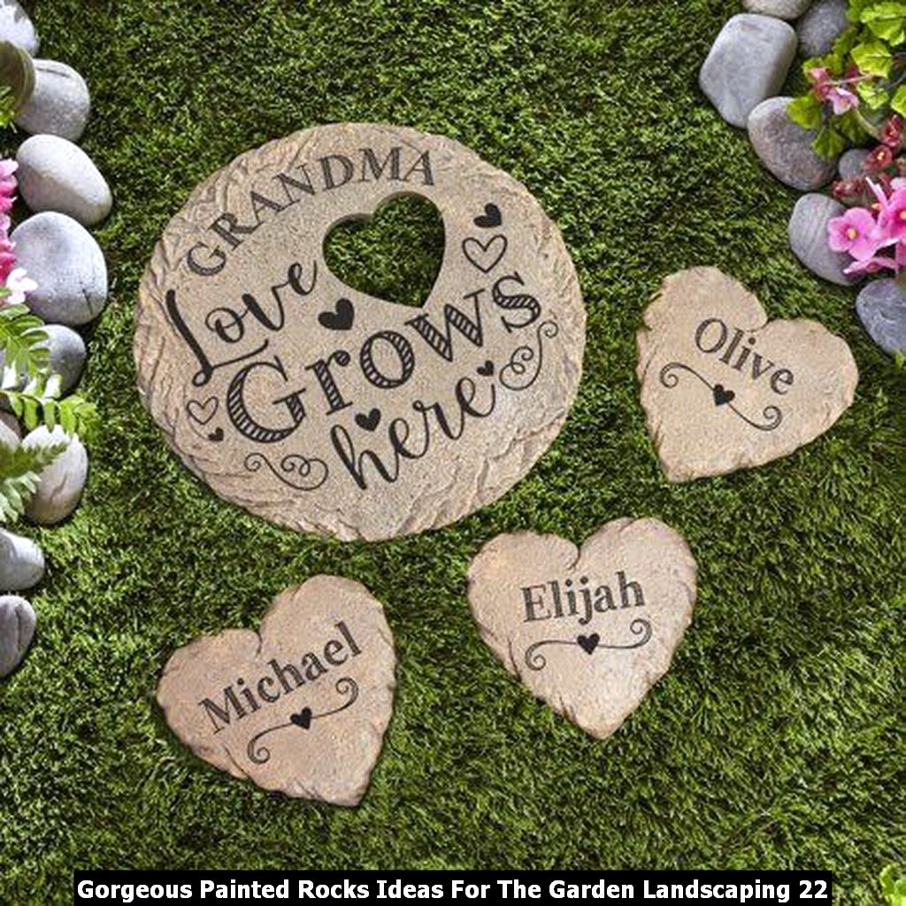 Gorgeous Painted Rocks Ideas For The Garden Landscaping 22