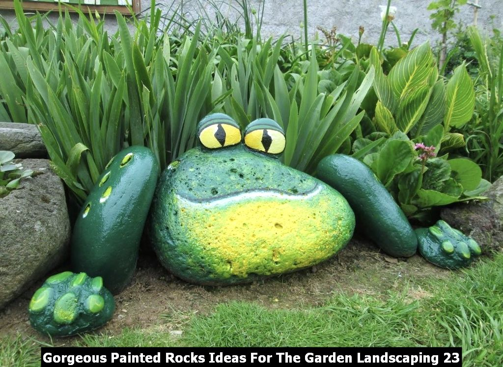 Gorgeous Painted Rocks Ideas For The Garden Landscaping 23
