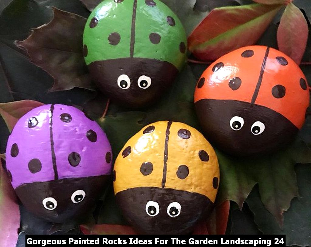 Gorgeous Painted Rocks Ideas For The Garden Landscaping 24