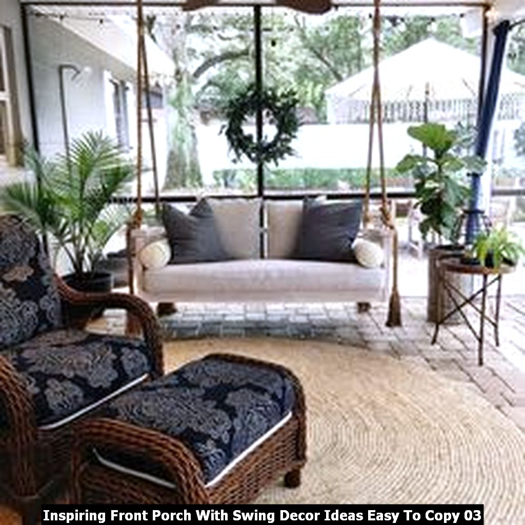Inspiring Front Porch With Swing Decor Ideas Easy To Copy 03