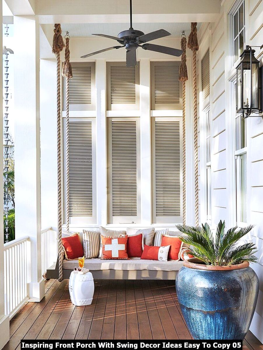 Inspiring Front Porch With Swing Decor Ideas Easy To Copy 05