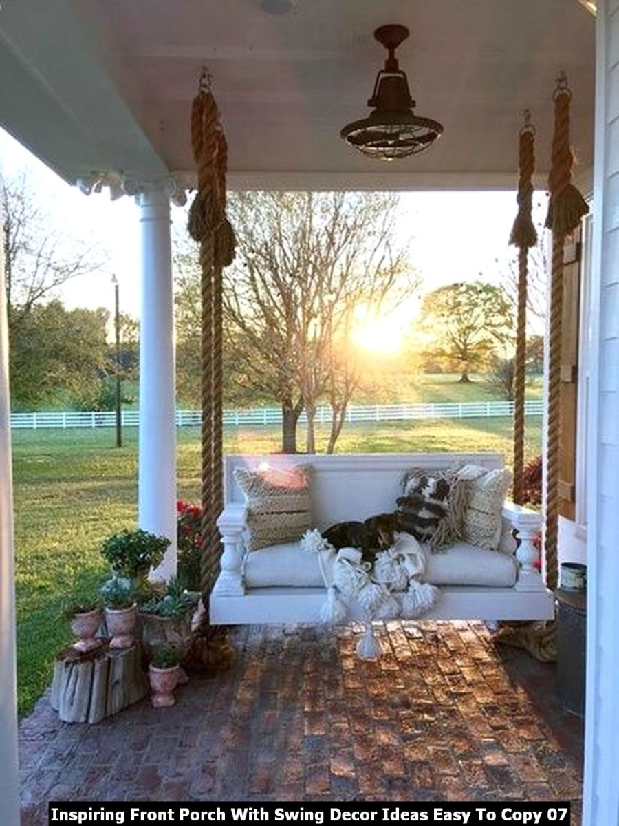 Inspiring Front Porch With Swing Decor Ideas Easy To Copy 07