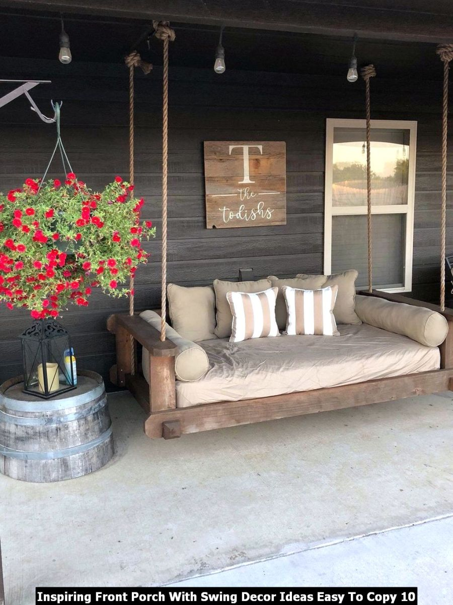 Inspiring Front Porch With Swing Decor Ideas Easy To Copy 10