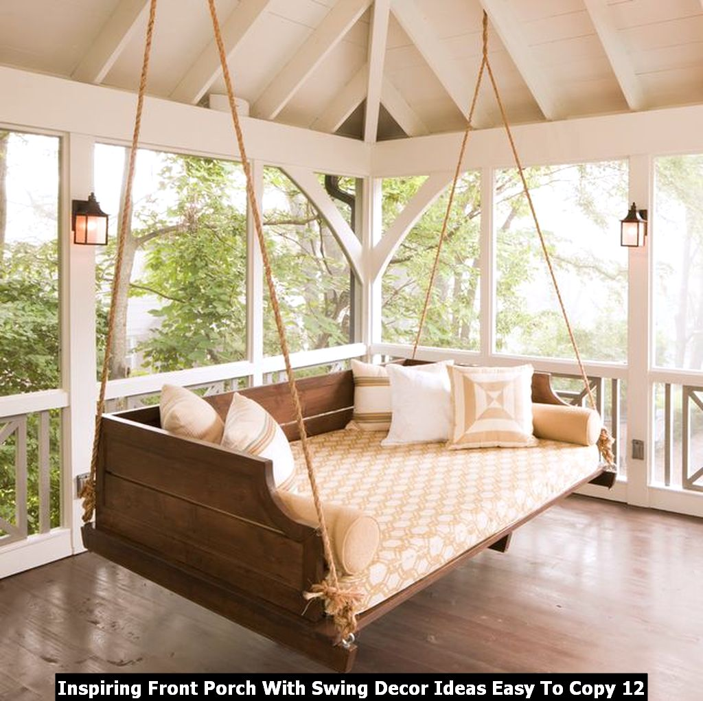 Inspiring Front Porch With Swing Decor Ideas Easy To Copy 12