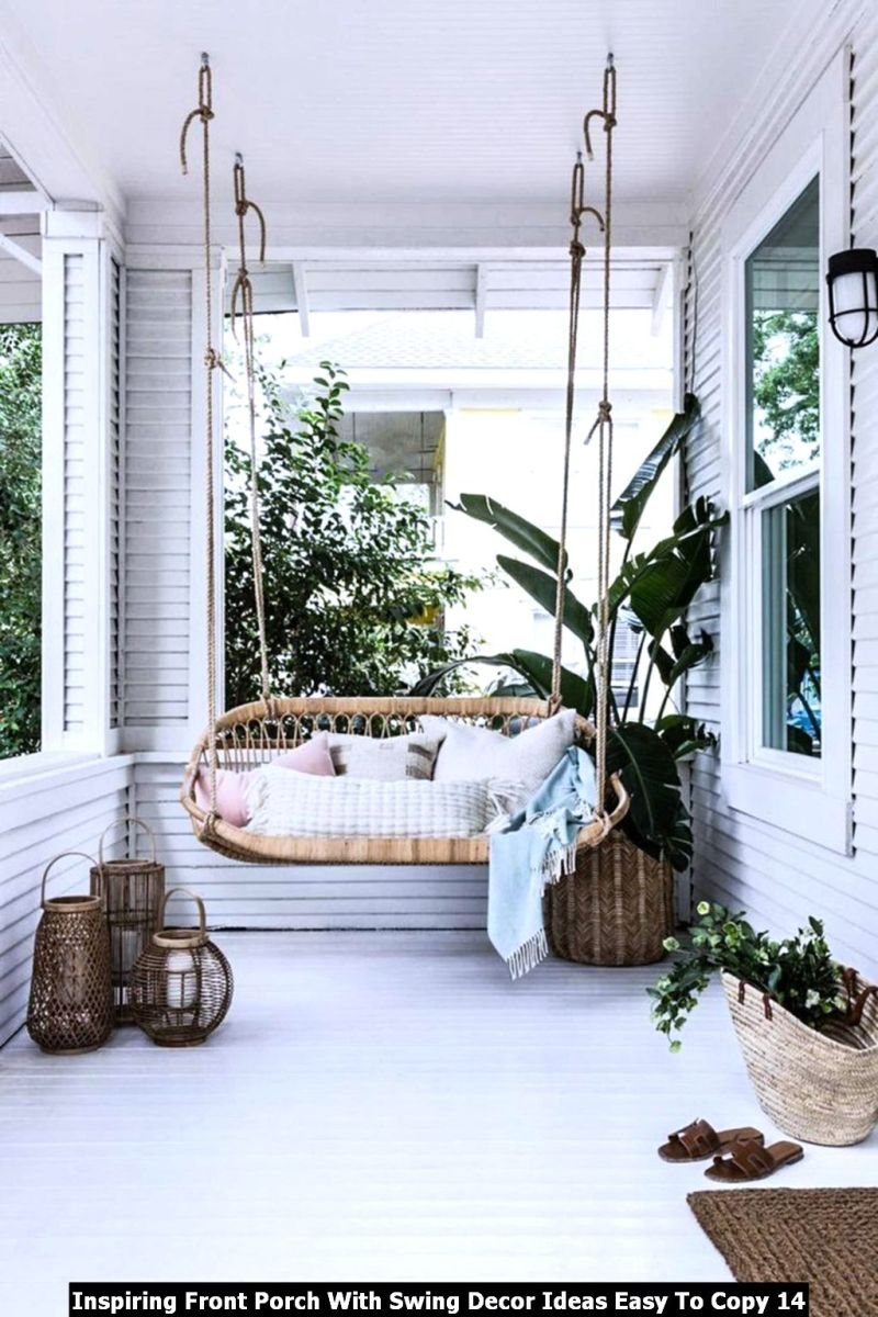Inspiring Front Porch With Swing Decor Ideas Easy To Copy 14