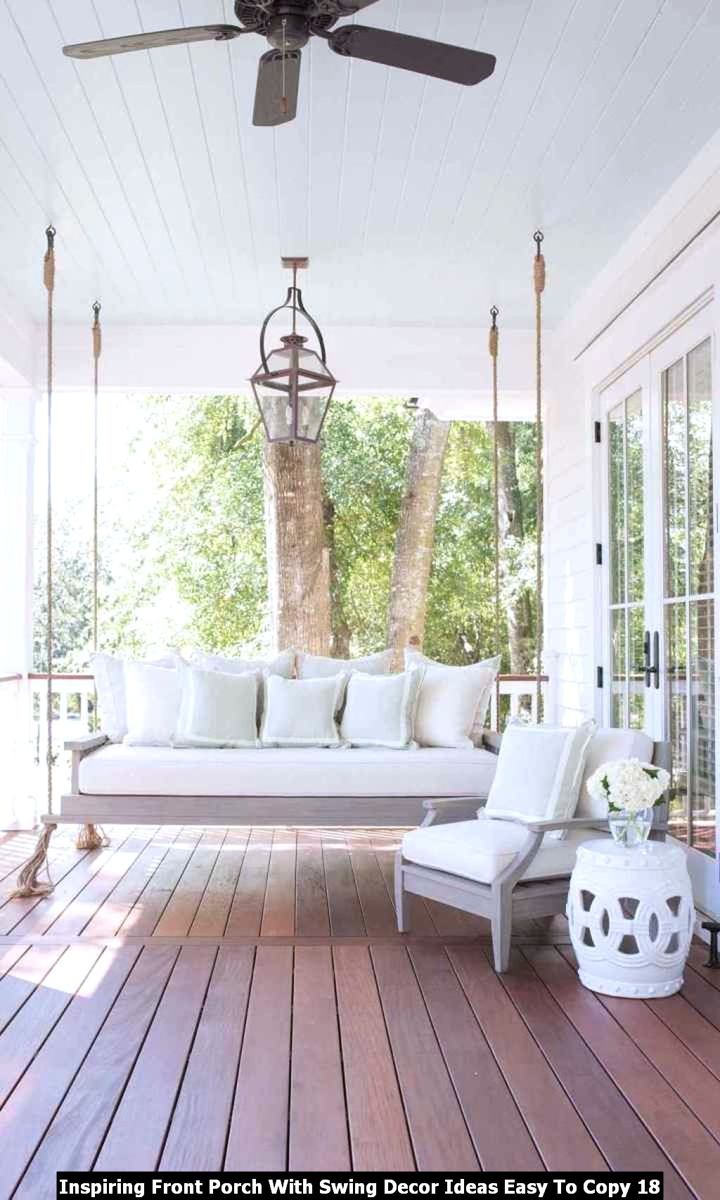 Inspiring Front Porch With Swing Decor Ideas Easy To Copy 18