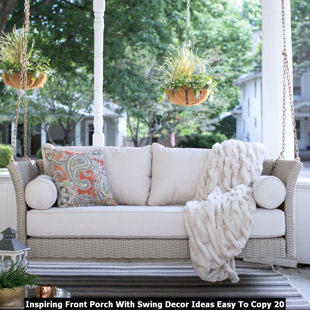 Inspiring Front Porch With Swing Decor Ideas Easy To Copy 20