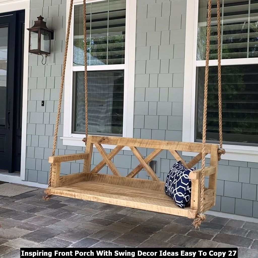 Inspiring Front Porch With Swing Decor Ideas Easy To Copy 27