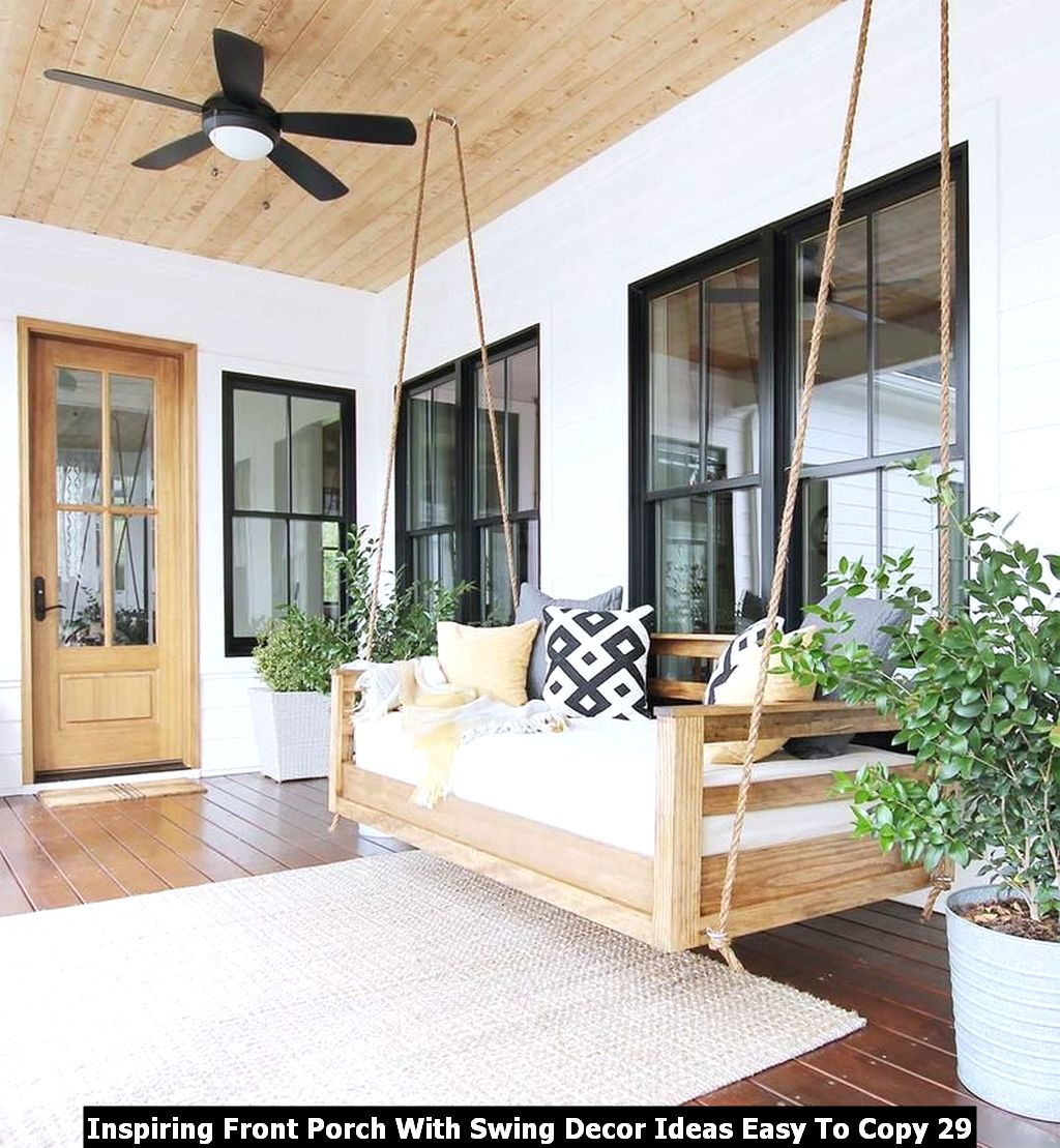 Inspiring Front Porch With Swing Decor Ideas Easy To Copy 29